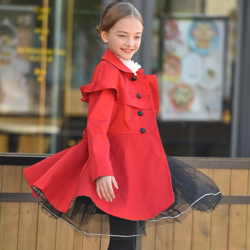 Coat Girl 2016 New Fashion cotton jacket Double-Breasted Trench Coats Winter Patten Cloak Outerwear ellen tracy outerwear women s double breasted classic trench coat
