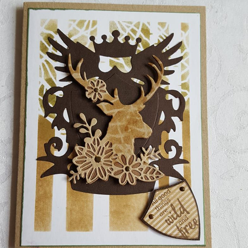 Stag Animals Metal Cutting Dies for Scrapbooking New 2019 Cutting Embossing Stencils Paper Craft Die Paper Cards Making in Cutting Dies from Home Garden