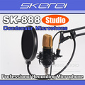 Free Shipping 5-Year Warranty! SKEREI SK-888 Recording Condenser Microphone Studio Broadcasting Mic With Shock Mount Stand NEW !