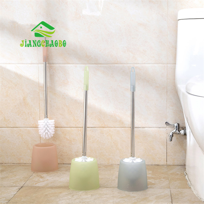 1 Pc Durable WC Bathroom Toilet Brush with Stainless Steel Handle Whit Holder Bathroom Cleaning Tools in Cleaning Brushes from Home Garden