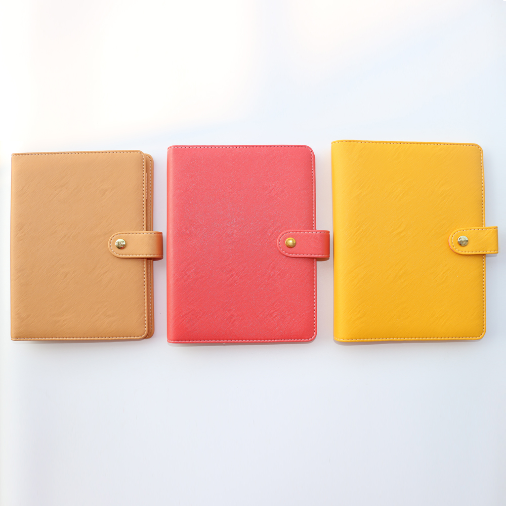 2018 Macaron New Leather Spiral Notebooks Stationery,cute