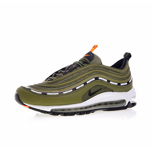 super popular 64727 4b4a6 Nike Air Max 97 OG x Undefeated Olive Men's Breathable Running Shoes  Outdoor Sneakers Sports 2018 New Desinger AJ1986-300