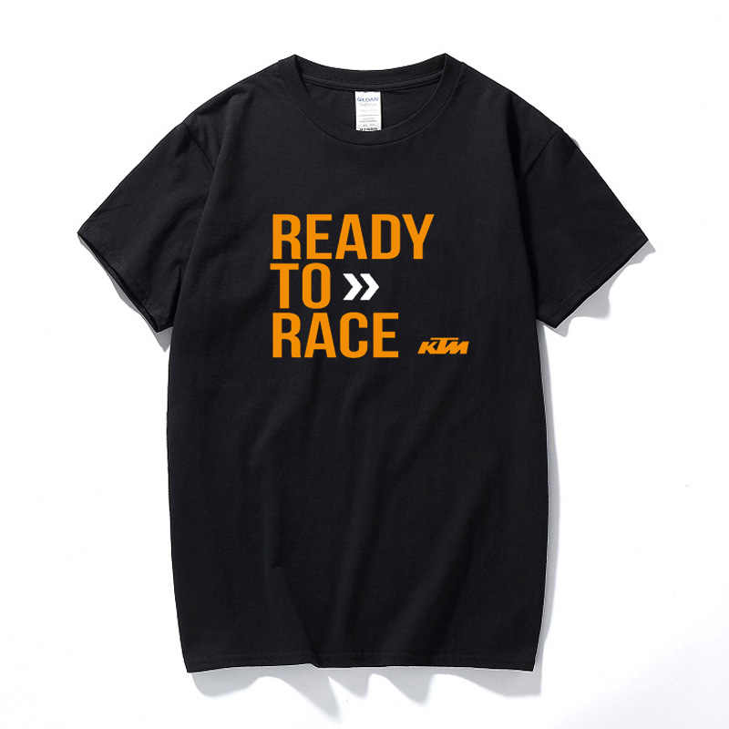 Top Summer KTM Ready To Race T-Shirt Biker Motorcycle Rider Cotton Short Sleeve T shirt Camisetas Hombre Tee shirt homme