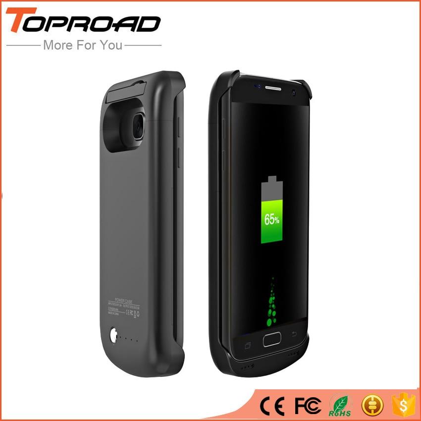 bilder für 4200 mAh Power Clip Batterie Fall für Samsung Galaxy s7 G930 G930F G9300 Duos Handy Energienbank Backup Ständer Halter abdeckung