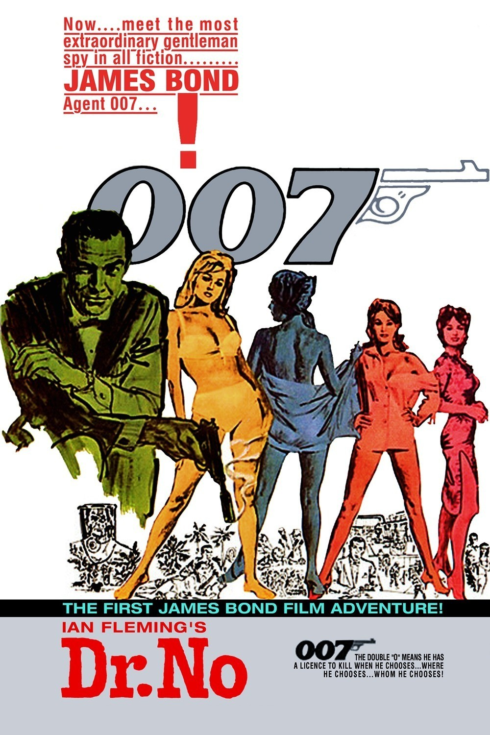 free shipping1962 dr no 007poster hd home wall decor