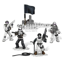 hot LegoINGlys military World war II Snow leopard commando Building Blocks mini weapons figures MOC model bricks toys gift