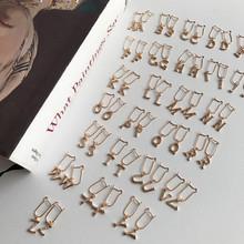 LouLeur 925 sterling silver Single letter zircon earrings single sell freedom to match M-Z letter drop earrings for women gift