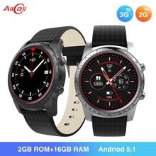 ALLCALL W1 3G/2G Android Smartwatch MTK6580 Quad Core 1,3 GHz 2GB/16GB GPS MP4 5,1 BT 4,0 Wifi conexión 3G reloj teléfono inteligente