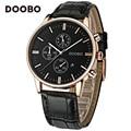 Fashion Casual Top Brand Luxury Watch Men DOOBO Quartz-Watch Leather Strap Sport Business Wrist Watches relogio feminino Saat