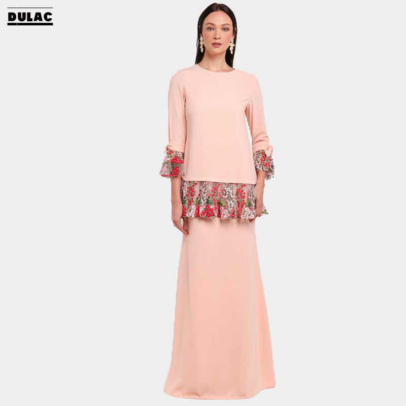 Detail Feedback Questions about Advanced Customization Wholesale Middle East  Islamic Women Fashion Wear Muslim Maxi Long Dress Baju Kurung with  Embroidered ... 3ad75f0a5c8c