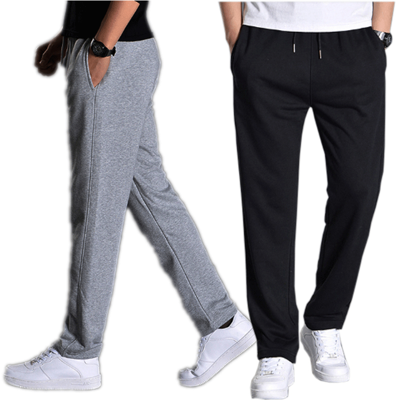 Spring Summer Men Casual Pants Loose Sweatpants Men Basic Trousers Tracksuit Bottoms Sportswear Solid Large Size Straight Pants