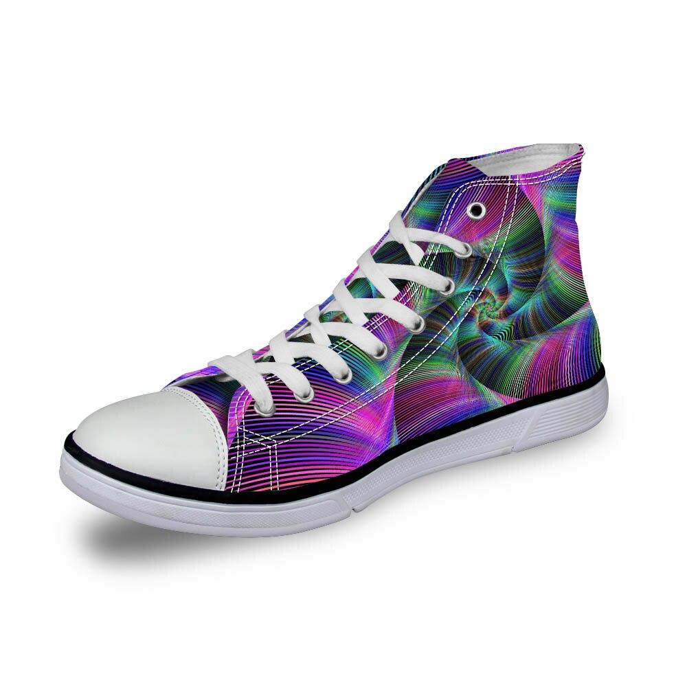 Noisydesigns wanita vintage tinggi top sneakers gadis kasual renda - Sepatu Wanita - Foto 5
