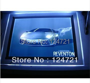 a3 Acrylic Frameless Frame Advertising Outdoor Led Light Box New Invention 2016 Free Shipping 10 Pcs/lot