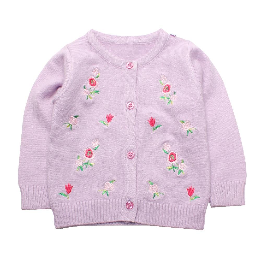 984fd645b10b1d Flower Baby Girl Sweater Toddler Crochet Cardigan O-Neck Girls Sweater Shirt  Cotton Autumn Children Sweater Baby Girl Clothing