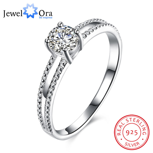 Wedding Accessories 925 Sterling Silver Ring Elegant Engagement