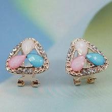 FADJOLLYS Luxury crystal star stud earrings for women accessories Trendy  wholesale  Girl Jewelry Earring Ear clip