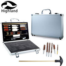 Jacht Hand Shot Gun Case Box Cleaner Kit 74Pcs Pro Universal Gun Cleaning Kit Pistool Geweer Shotgun Vuurwapen Cleaner(China)