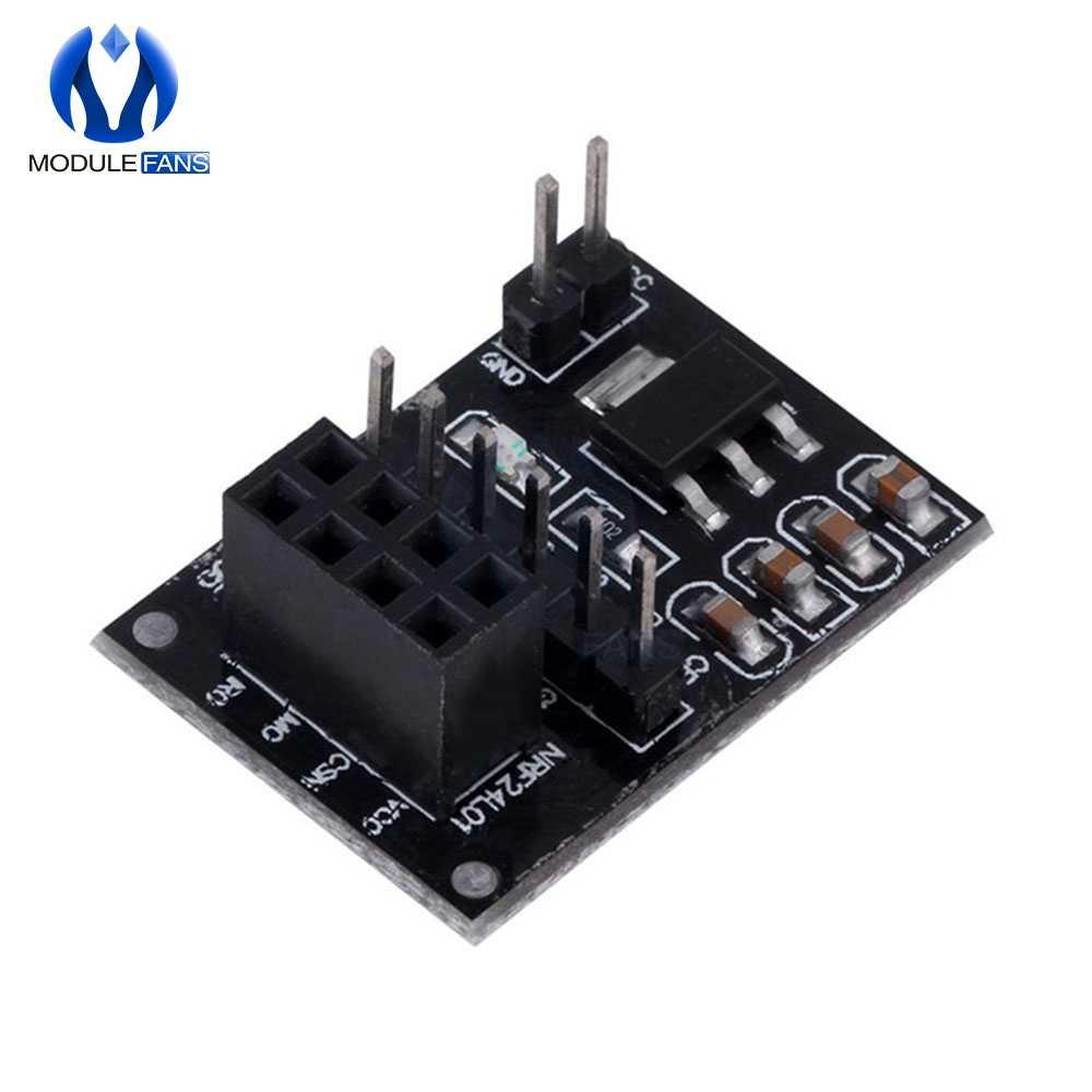 Adapter gniazda płyta dla 8Pin NRF24L01 moduł bezprzewodowy moduł nadawczo-odbiorczy 51 AMS1117 Diy elektroniczny
