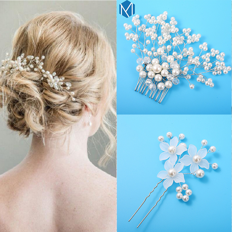 Popular New Arrival Pretty White Flower Hair Clips For Girls Party Bridal Hairpins Wedding Barrette Accesorios Para El Cabello Apparel Accessories
