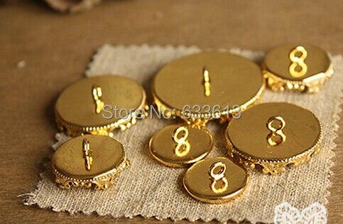 2dd02f9303c1 Envío Gratis! encanto 100 unids lote color oro Colgantes configuración  base blanco en 12mm