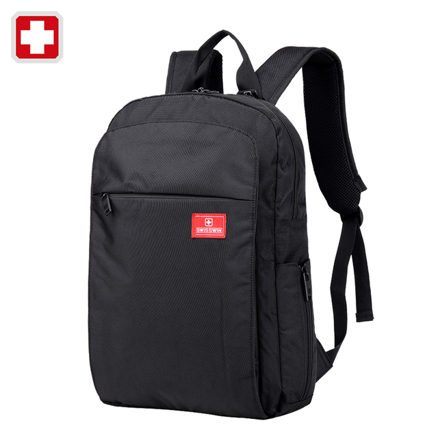 Swisswin men travel laptop backpack 15.6' bags male book bag ...