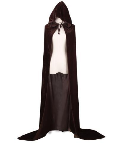 Der Totmacher Azraelpurple green red Black Halloween death cloak,Adult Witch Long Halloween Cloaks Hood and Capes Halloween 3