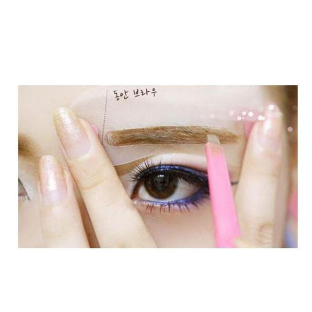 2019 Hot eyeliner 3pcs delineador ojos Exquisite Eyebrow ruler Grooming Shaping Card Kit Template eye brow Tooleye brow stencil 2
