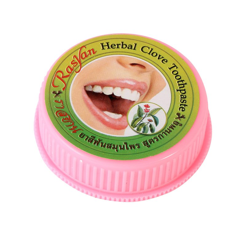 Herb Teeth Whitening Natural Herbal toothpaste Amazing Thai toothpaste Strong Formula 25g Hot