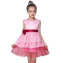 Newest Low Price Kids  Girl Dresses Girl Cute Sleeveless Gauze Tutu Dress Flower Princess Lace Dress  Baby Dresses For Girls