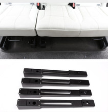 Aluminum alloy Car Rear Seat Heightening Pad Kits Strips Trim For Land Rover Discovery 5 2017 2018 Car Accessories 4Pcs/set 4pcs aluminum rear suspension arm set upper