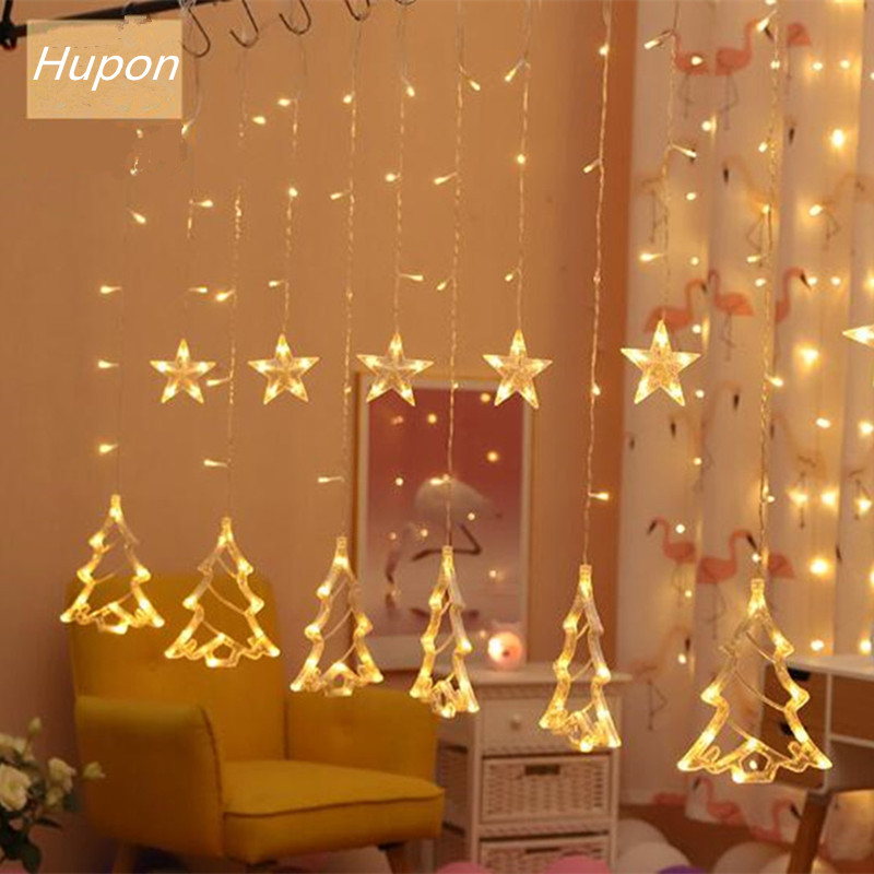 LED Christmas String Light Ins Christmas Fairy Lights Garland Outdoor Decorations Holiday Lights Curtain Lamp 220V Wedding Decor in LED String from Lights Lighting