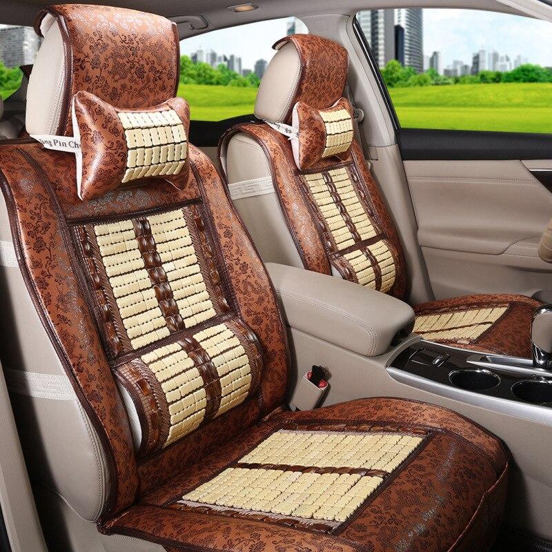 Bamboo seat cushion Car seat cover four seasons universal car bamboo silk summer breathable cool pad - 2
