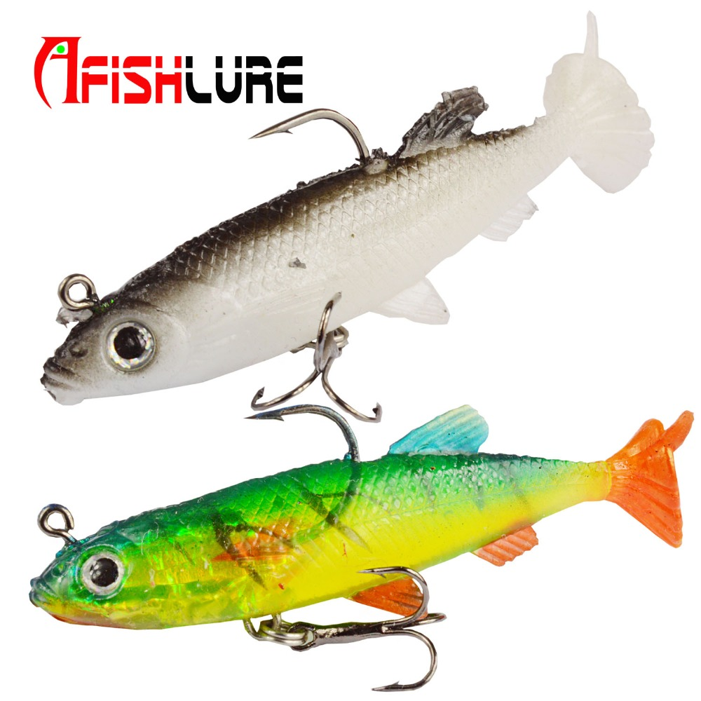 T Tail Soft Lure with Treble Hook and Single Hook 14g 80mm Lead Fishing Lure Soft Bait Sea Fishing Bass Fishing wldslure 1pc 54g minnow sea fishing crankbait bass hard bait tuna lures wobbler trolling lure treble hook