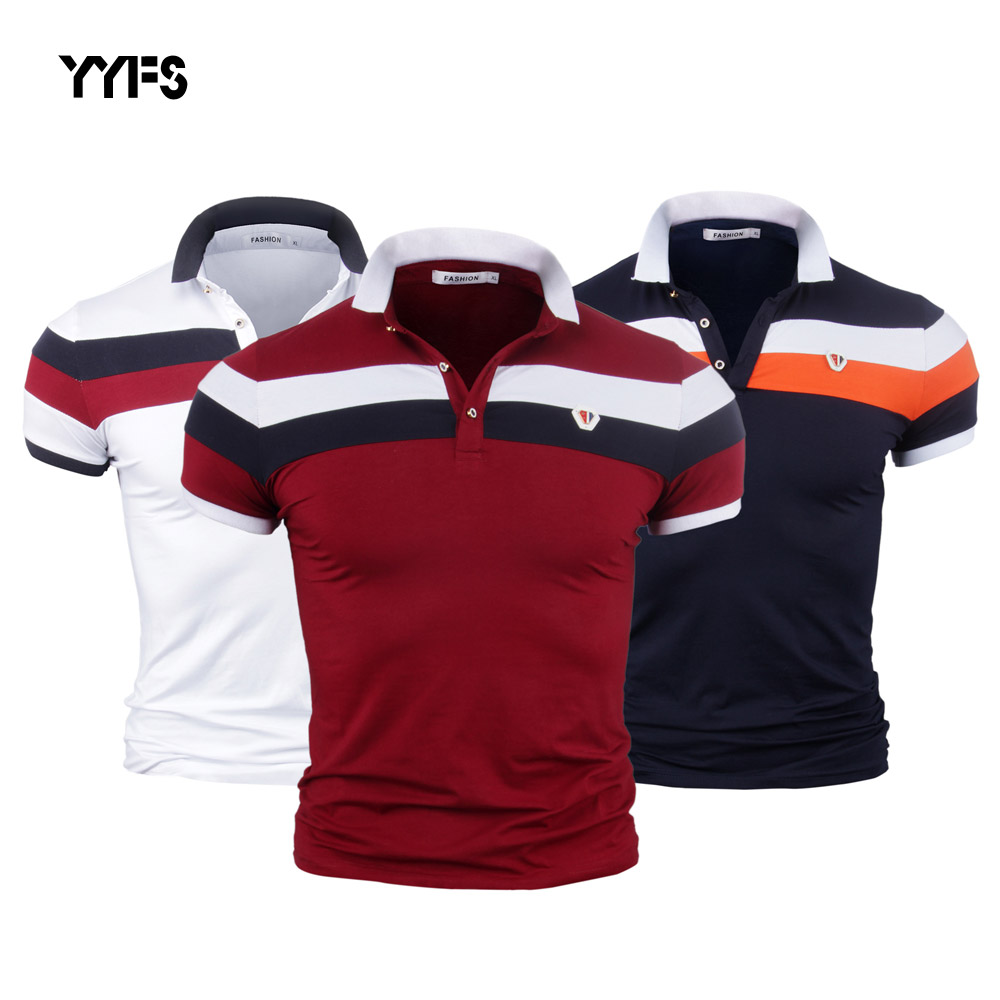 YYFS Men Shirt Plus Size M-3XL Short Sleeve Cotton Shirt Jerseys Shirts Men Slim Fit   Polo   Shirts Casual Camisa Hot Sale