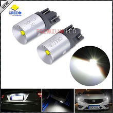 (2) Xenon White CRE E T10 168 194 2825 W5W LED Bulbs For Parking Position Lights or License Plate Lights