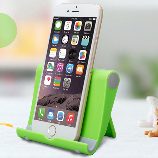 Universal Green Mobile Phone Stand Foldable Desk Phone Holder For