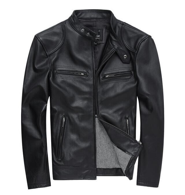 New Mens Faux Leather Jackets High Quality Pu Leather Spring Autumn Men Leather Jaket