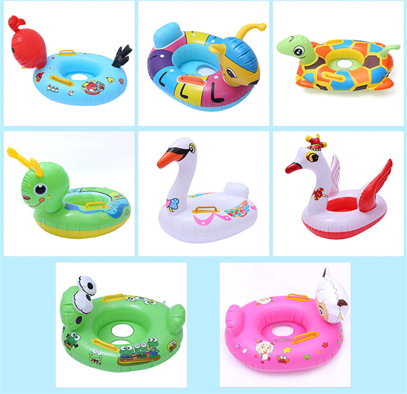 2018 Summer Must-haves Outdoor Swimming Pool baby Seat Float Inflatable Lovely Animal Mattress Swimming Float Toys For Children