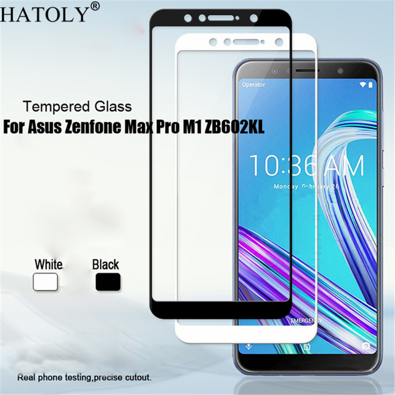 2PCS Tempered Glass For ASUS ZenFone Max Pro M1 ZB602KL Screen Protector Full Cover ASUS Zenfone Max Pro M1 ZB602KL X00TD Film