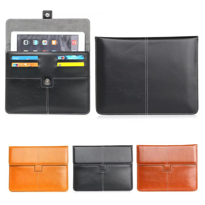 PU Leather cover case For Irbis TX37/TX54/TX3 Universal Android 7-8 inch Tablet Pouch Case w/ Credit Cards Holder Y2D48D