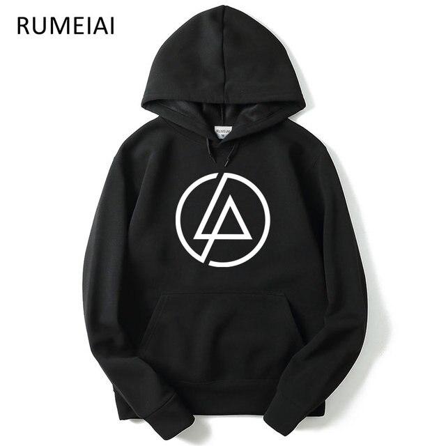 Rumeiai осень 2017 г. Linkin Park бренд Толстовки Для Мужчин's Повседневное Толстовка мужской хип-хоп Толстовки пуловер куртка флис