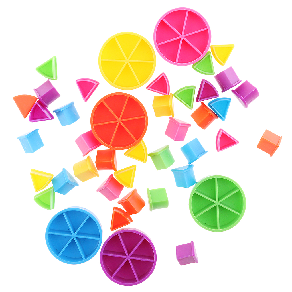 Pack Of 42 Pieces Trivial Pursuit Game Pieces Pie Wedges Parts Learning Math Fractions Kids Colorful  DIY Toy Gift For Kids