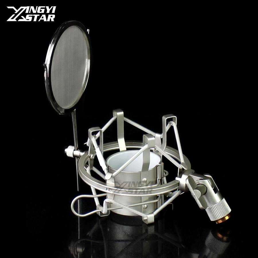 Mikrofonstativ Desktop Suspension Spinne Mikrofon Shock Mount Halter Stoßfest Aufnahme Mic Stand Für Audio Technica At2050 At4033 At4040