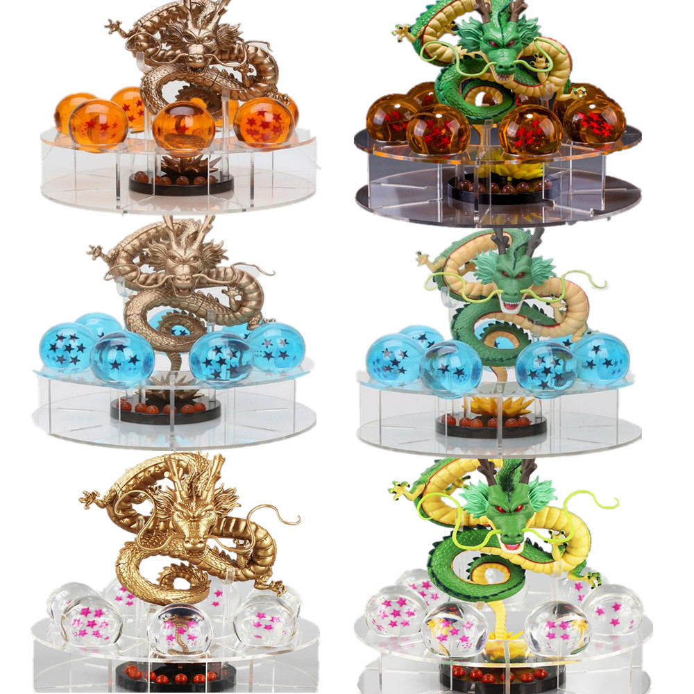 Dragon Ball Action Figure Shenron Crystal Ball PVC Set Anime Dragon Ball Super Figurine DBZ Model Toys Dragonball Shenlong 8pcs set anime how to train your dragon 2 action figure toys night fury toothless gronckle deadly nadder dragon toys for boys