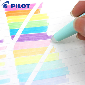 Image 4 - 6Pcs Pilot FriXion Licht Löschbaren Highlighter leuchtstoff stift SFL 10SL 6 Weiche Farbe Tinte Schreiben Liefert
