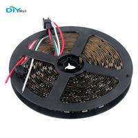 DIYmall WS2812 LED Strip Light 5050 RGB DC 5V 5m 300 LEDs IP20 Non Waterproof Black