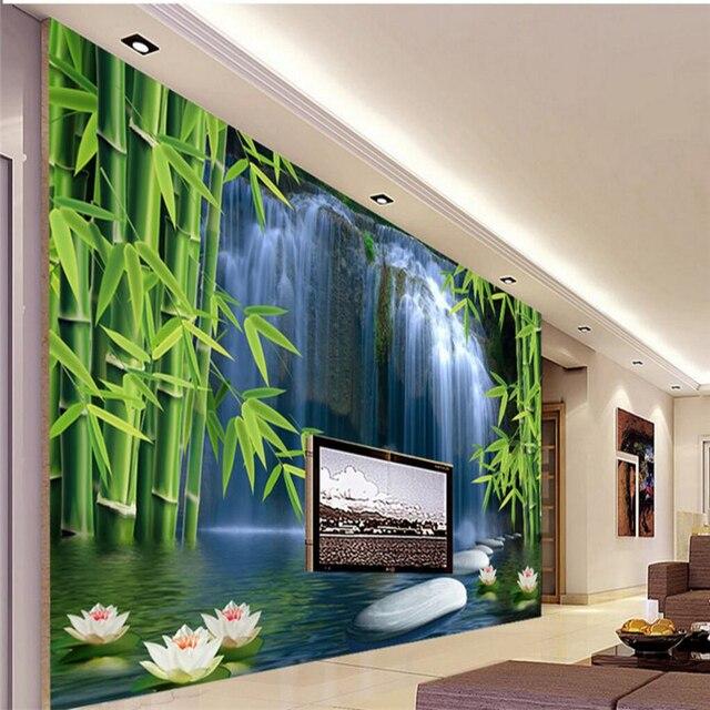 Beibehang Bambus Wald Frühling Foto Tapete TV Hintergrund Moderne Kunst  Wandbild Für Wohnzimmer Große Malerei Wohnkultur