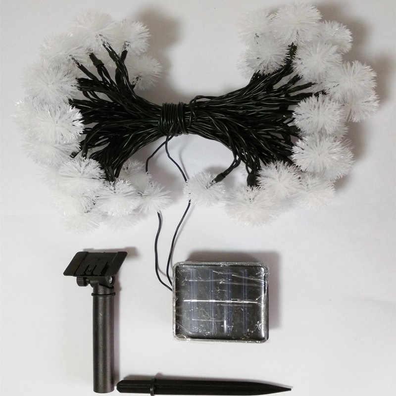 YIYANG меховой шар снежный шар Солнечная Фея светодиодный гирлянда лампа открытый сад декоративный уличный фонарь Рождество Новый год 20 светодиодный 4,8 м