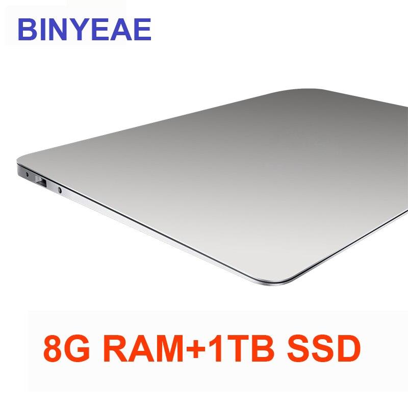 15.6 polegada Laptop Com 8G RAM 1 TB SSD j3455 Gaming Laptops Ultrabook intel Quad Core Computador Notebook 1920*1080 P FHD Netbook