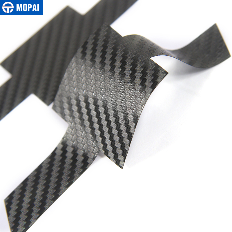 Image 5 - MOPAI Carbon Fiber Sticker Car Front Grille Rear Cross Sticker Emblem Badge Sticker for Chevrolet Camaro 2017 Up Car Accessories-in Car Stickers from Automobiles & Motorcycles